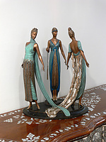 Erté Limited Edition Bronze: The Three Graces: View 1